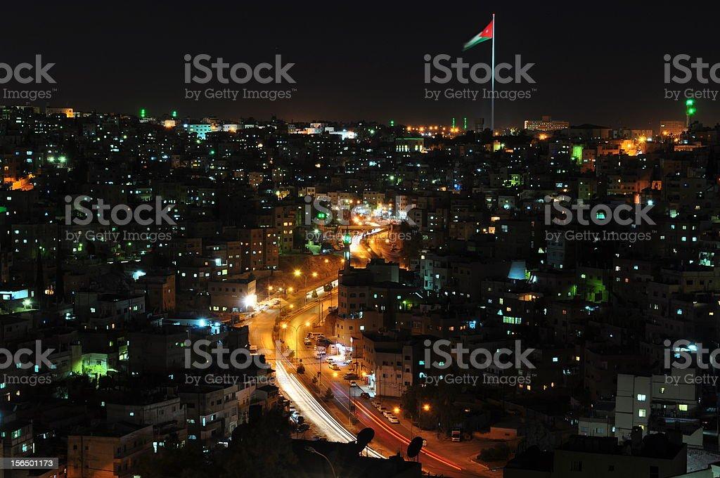 Amman heights at night royalty-free stock photo