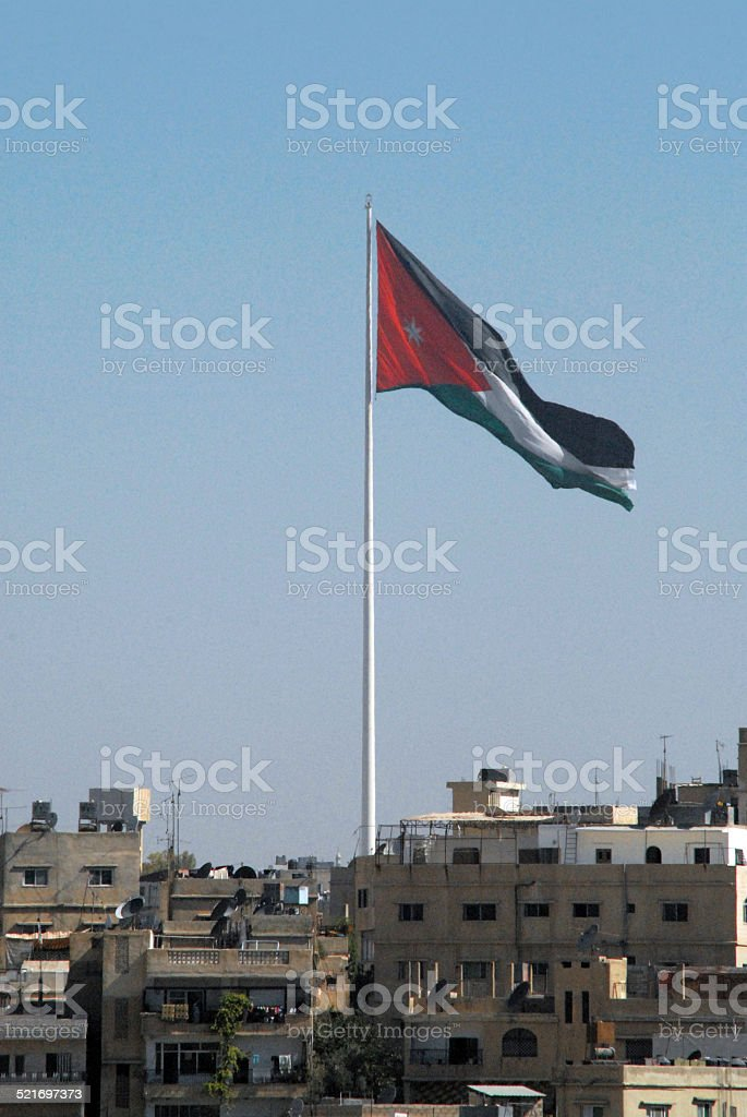 Amman, Jordan:  Raghadan Flagpole stock photo