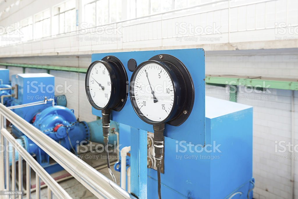 Ammeter and Voltmeter stock photo