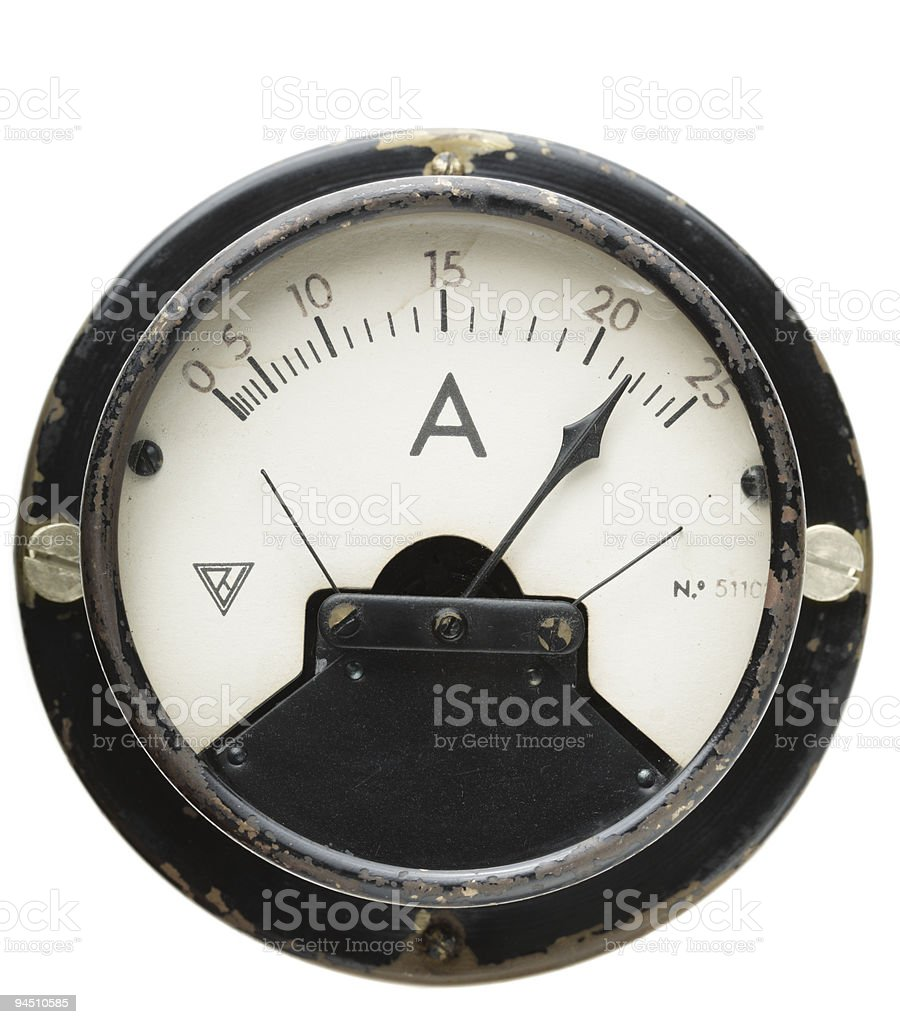 ammeter royalty-free stock photo