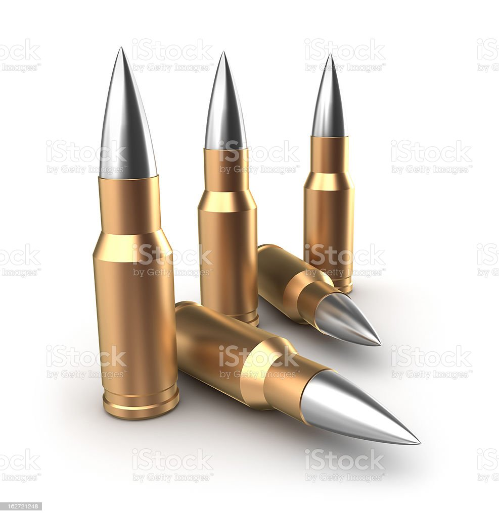 Ammo catridges with bullets royalty-free stock photo
