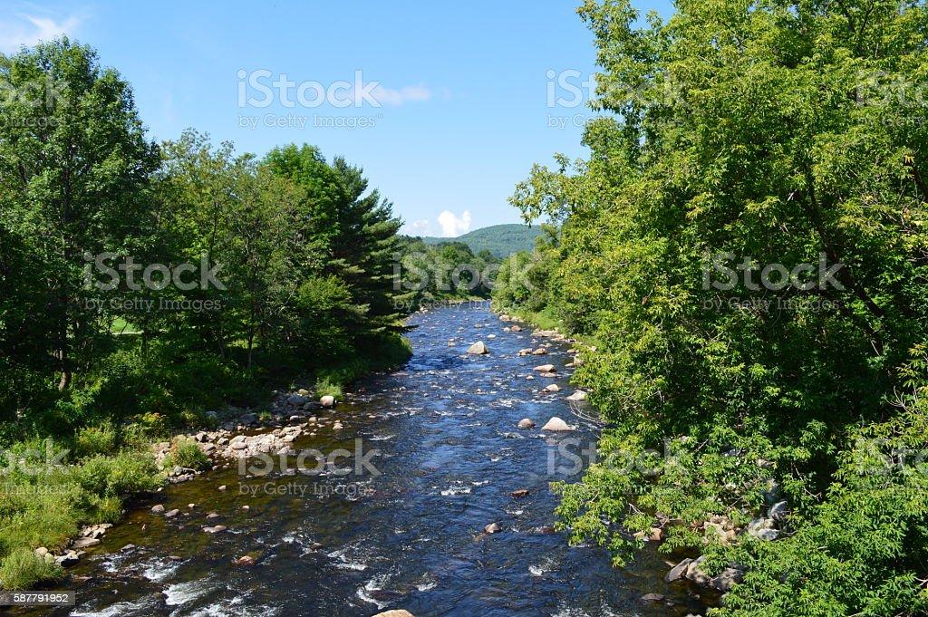 Ammonoosuc River stock photo