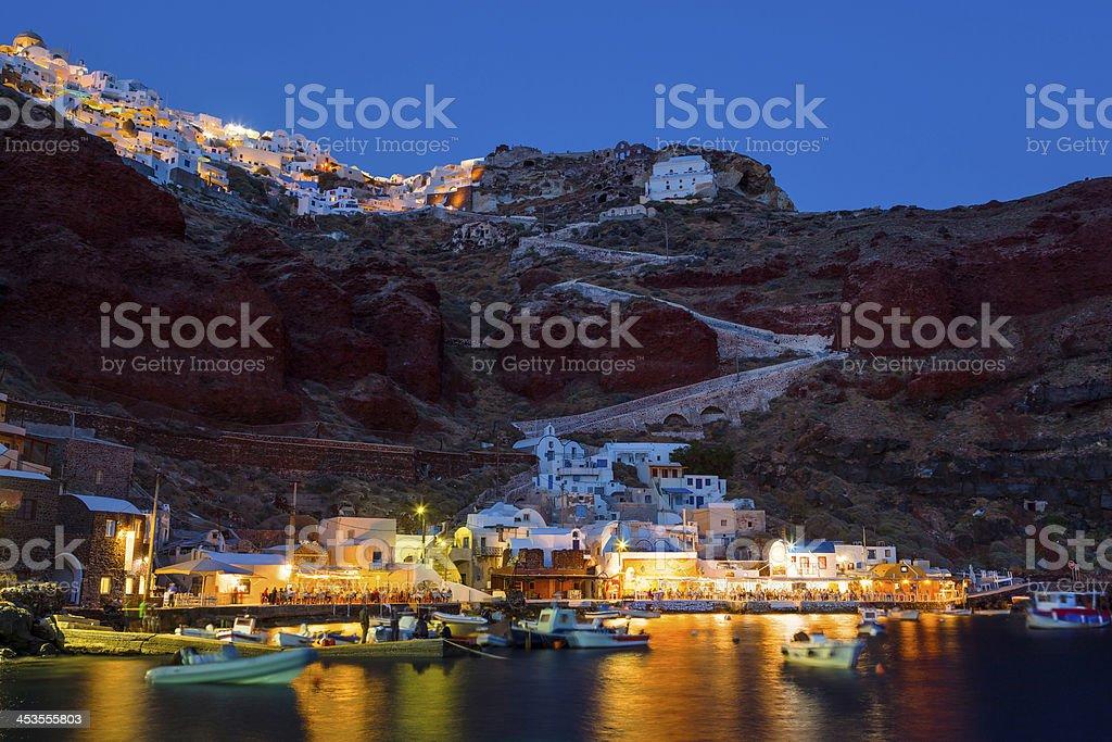 Ammoudi Bay Oia Santorin photo libre de droits