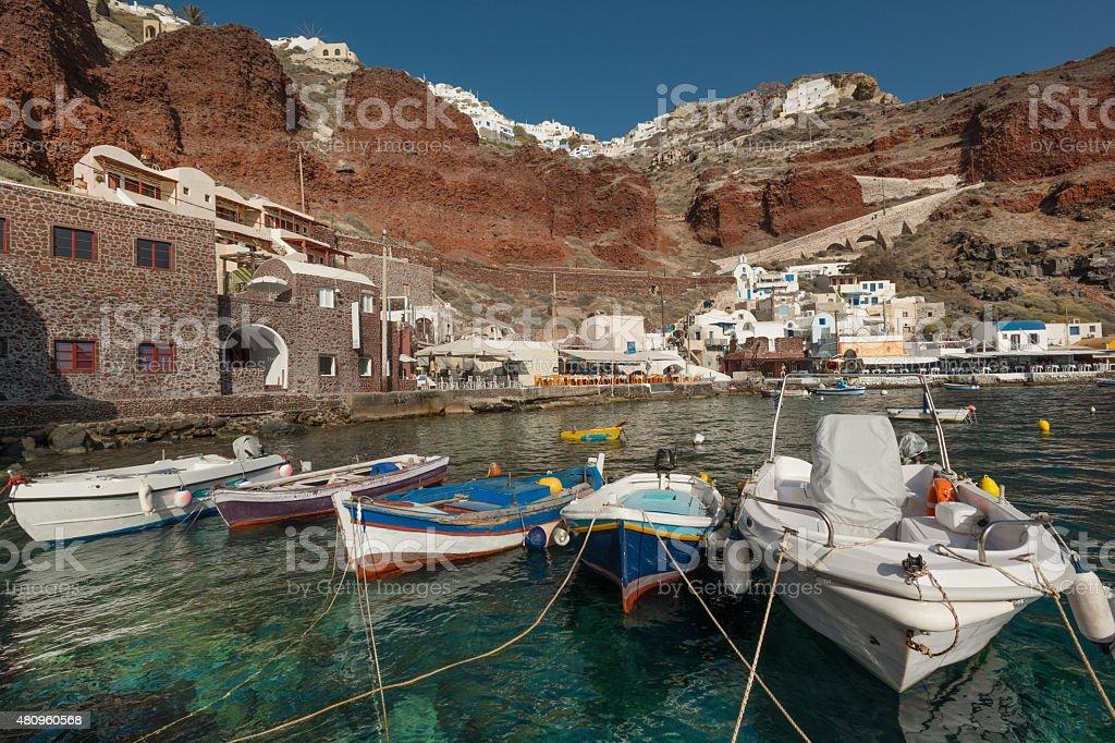 Ammoudi Bay stock photo