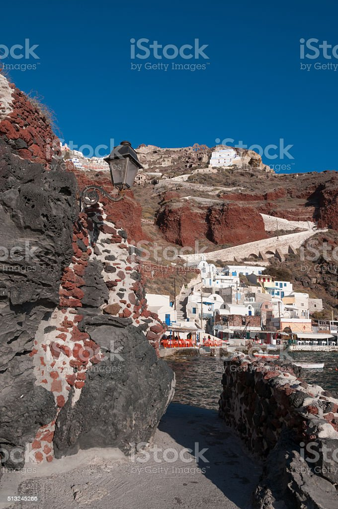 Ammoudi harbor - Santorini stock photo