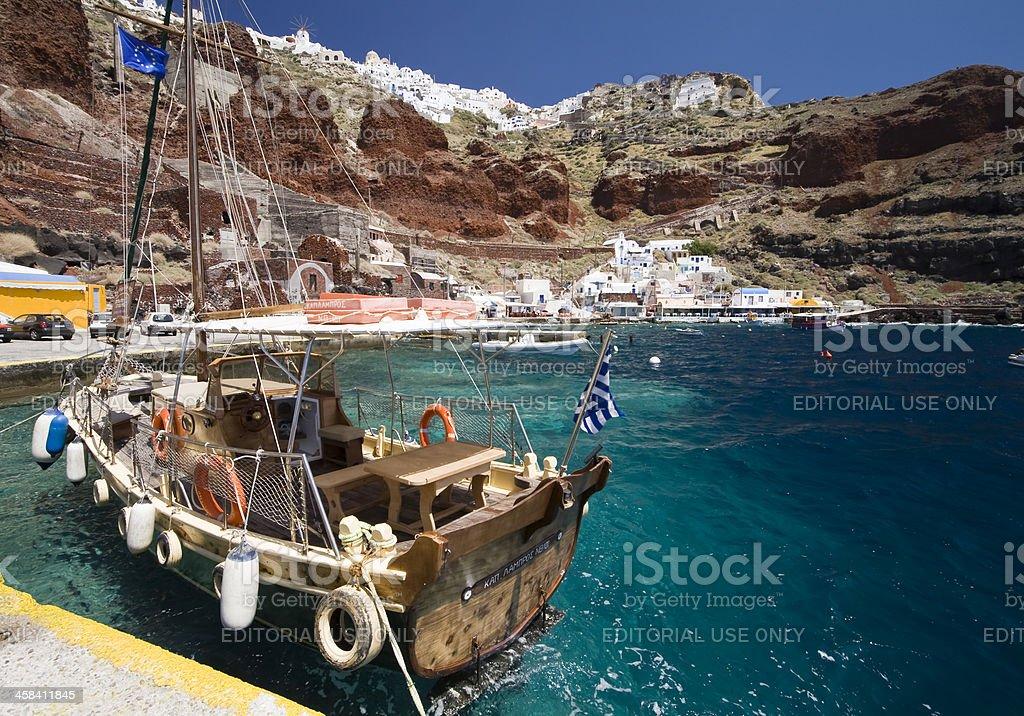 Ammoudi Yacht stock photo