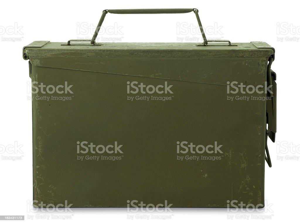 Ammunition Box Isolated on White royalty-free stock photo
