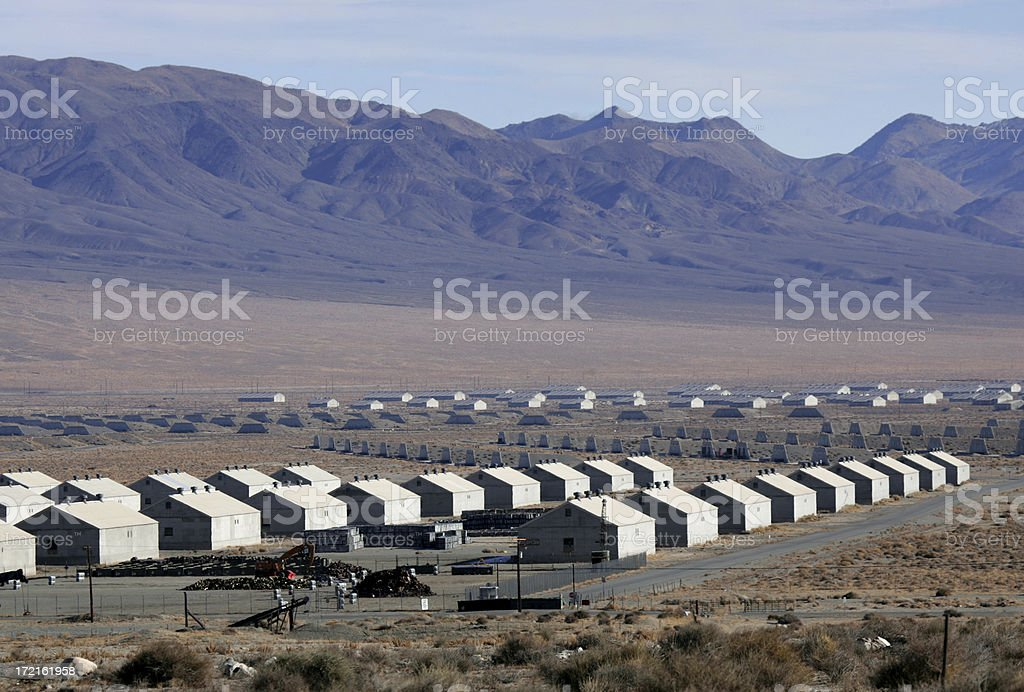 ammunition depot in western nevada stock photo