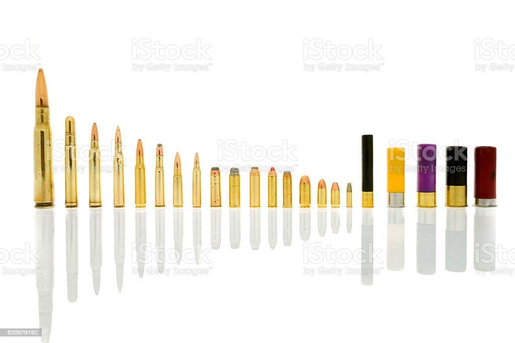 Ammunition in background stock photo