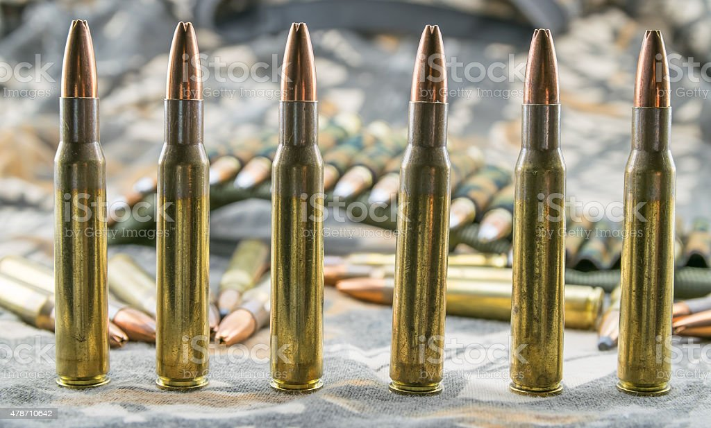 ammunitions for rifle stock photo