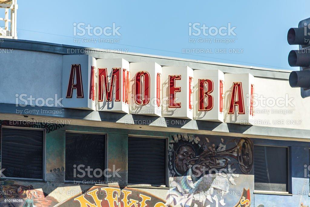 Amoeba Legendary Music Store in Holywood CA stock photo