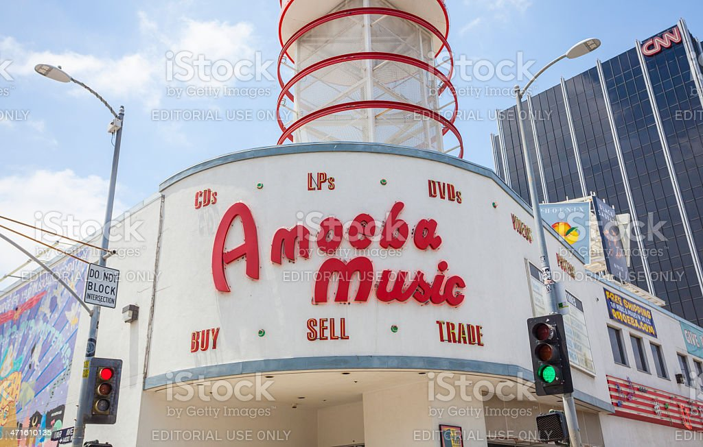 Amoeba Music royalty-free stock photo