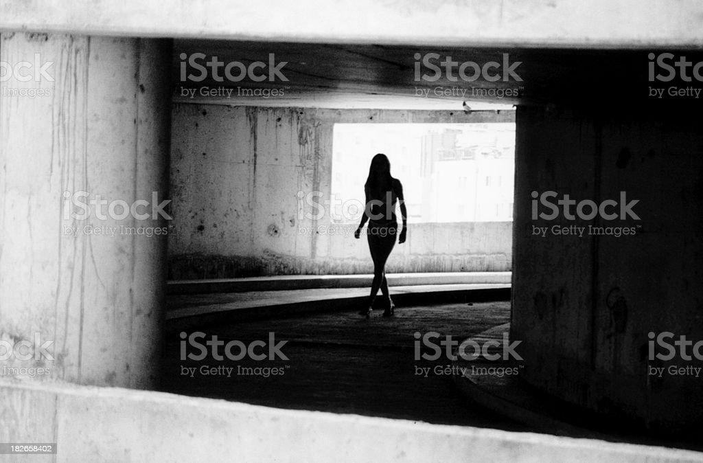 Among concrete walls stock photo