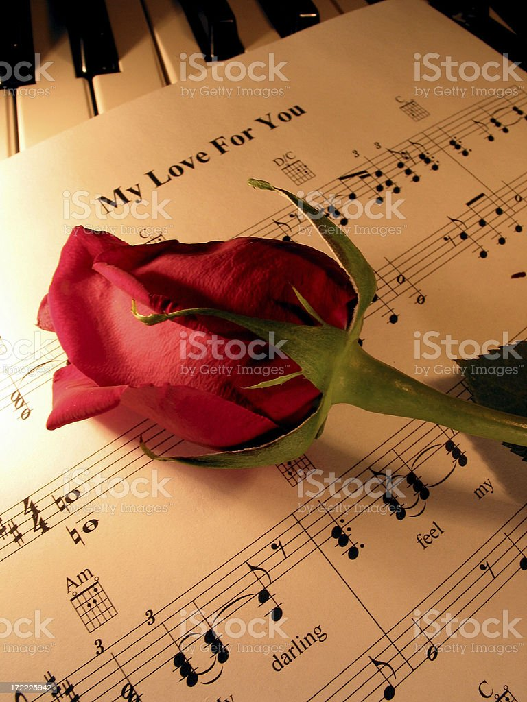 amore` - music and romance 3 royalty-free stock photo