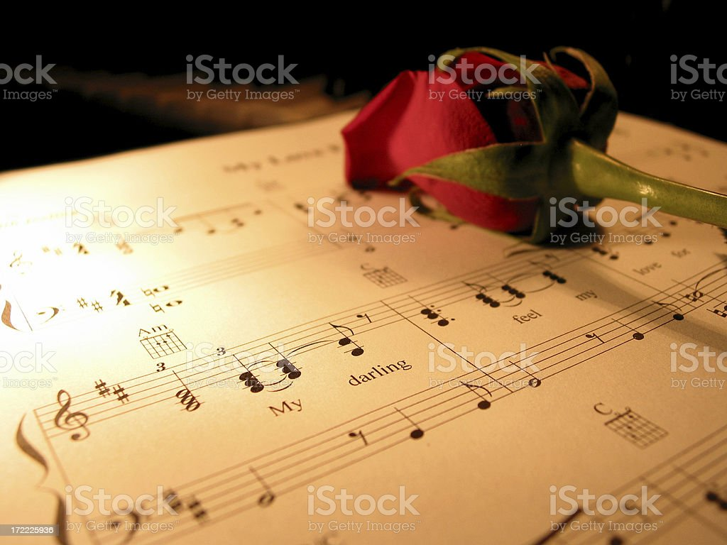 amore` - music and romance royalty-free stock photo