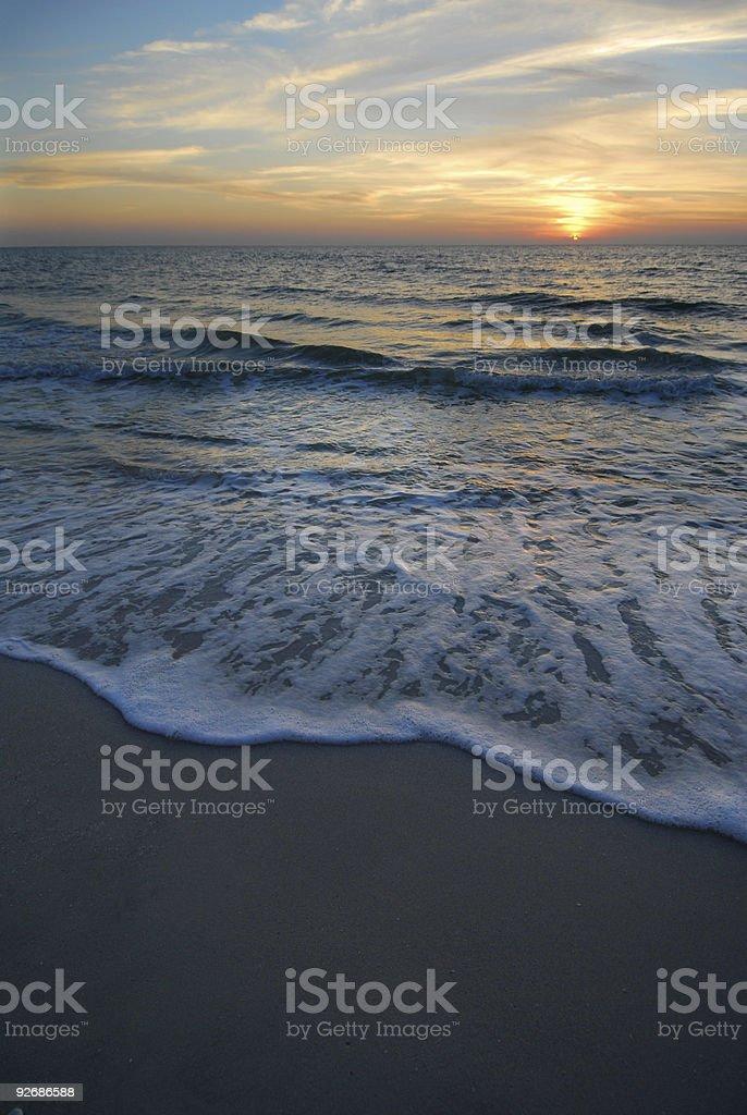 Amorous Beach Sunset royalty-free stock photo