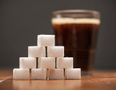 Amounts of Sugar In Food - Glass of Soda, Cola