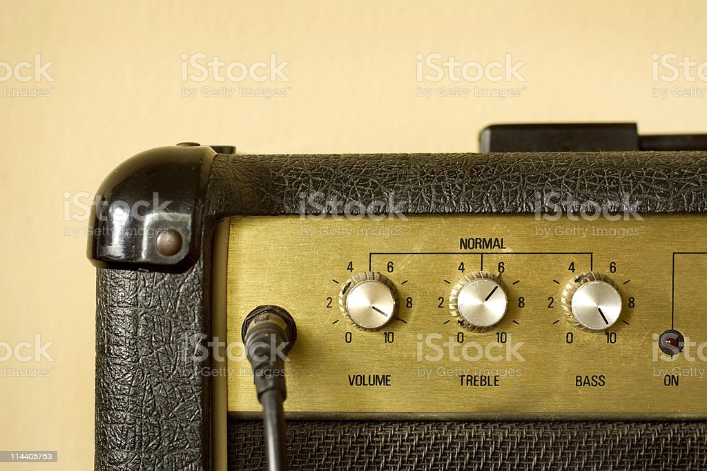 Amp Dials left royalty-free stock photo