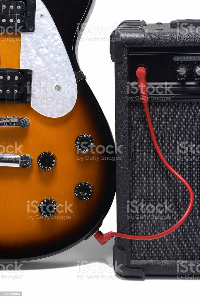Amp & Electric Guitar stock photo
