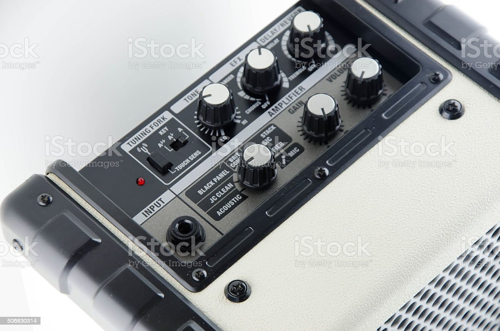 Amp Guitar stock photo