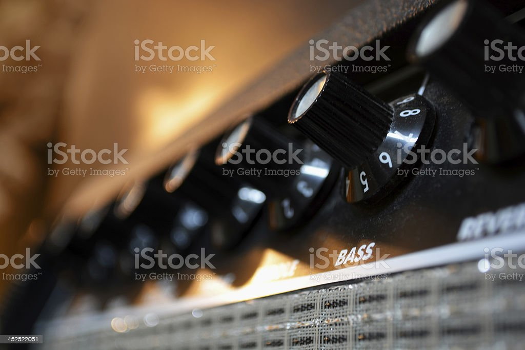 Amp Knobs stock photo