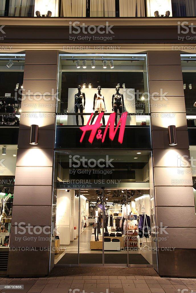 H & M Fashion store royalty-free stock photo
