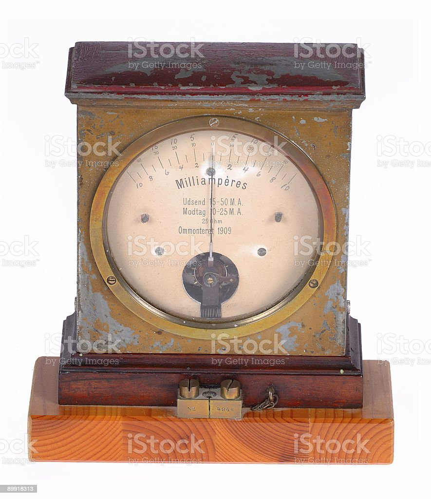 Ampere meter royalty-free stock photo