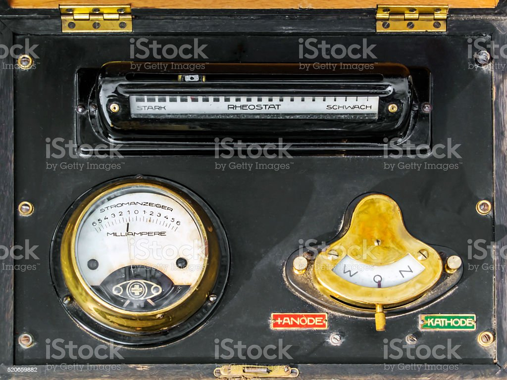 Amperemeter stock photo