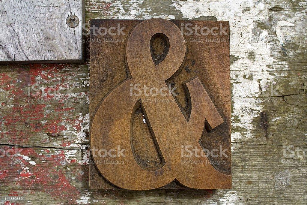 Ampersand stock photo