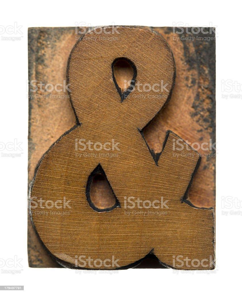 Ampersand symbol royalty-free stock photo