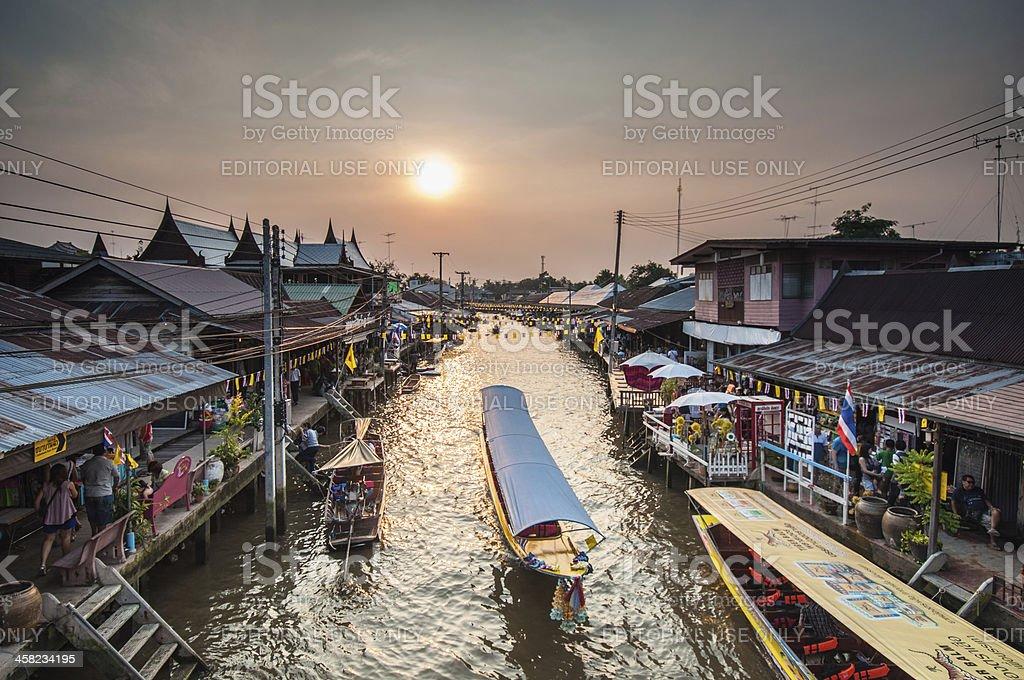 Amphawa canal stock photo