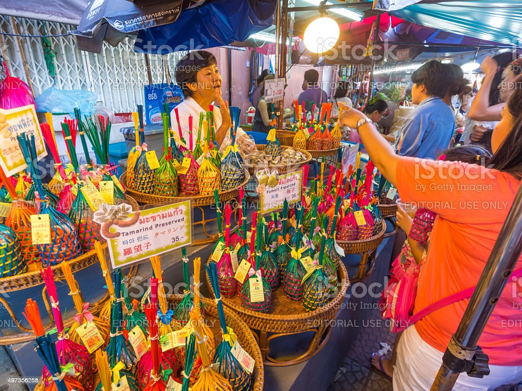 Amphawa district in Samit Songkhram, Thailand stock photo