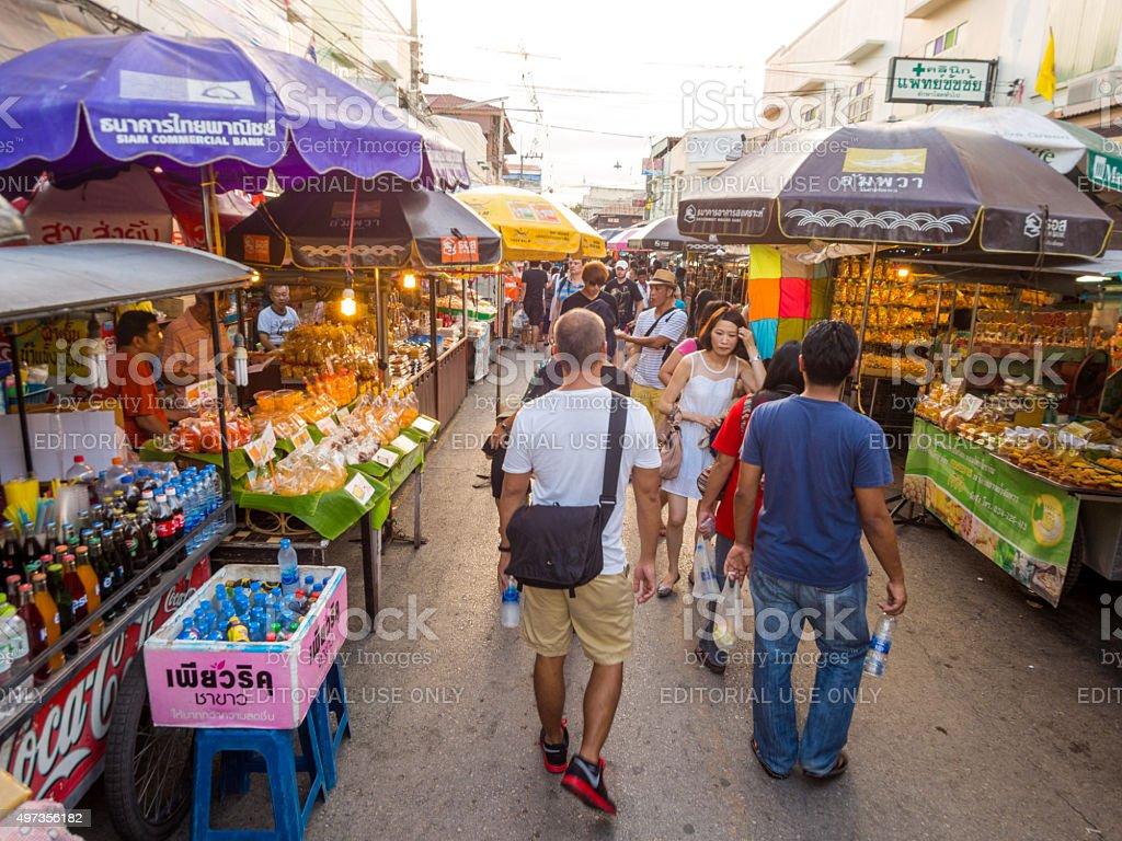 Amphawa district in Samut Songkhram, Thailand stock photo