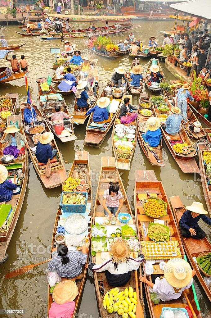 Amphawa Floating market,Thailand royalty-free stock photo