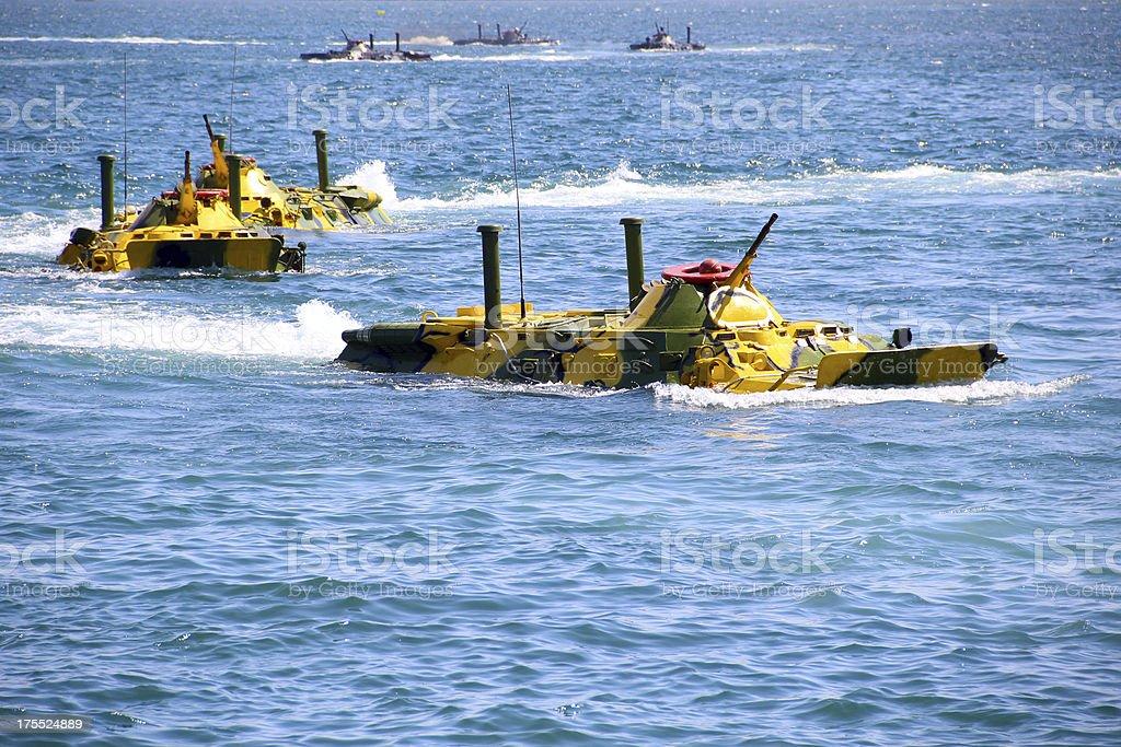 amphibious assault stock photo