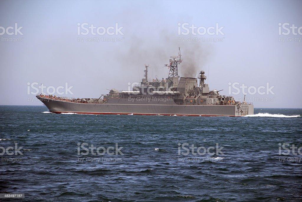 amphibious assault ship stock photo
