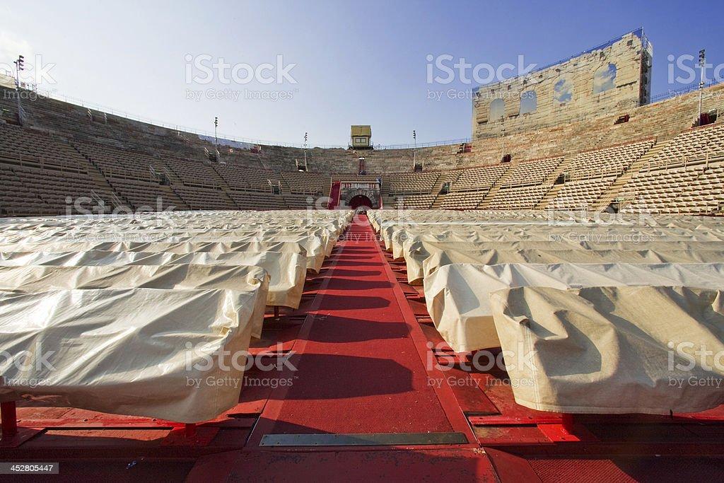 Amphitheater Arena of Verona stock photo