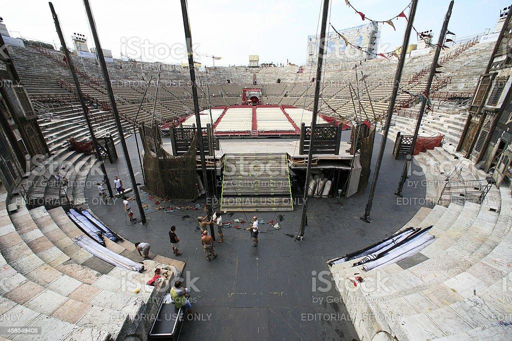 Amphitheater Arena of Verona royalty-free stock photo