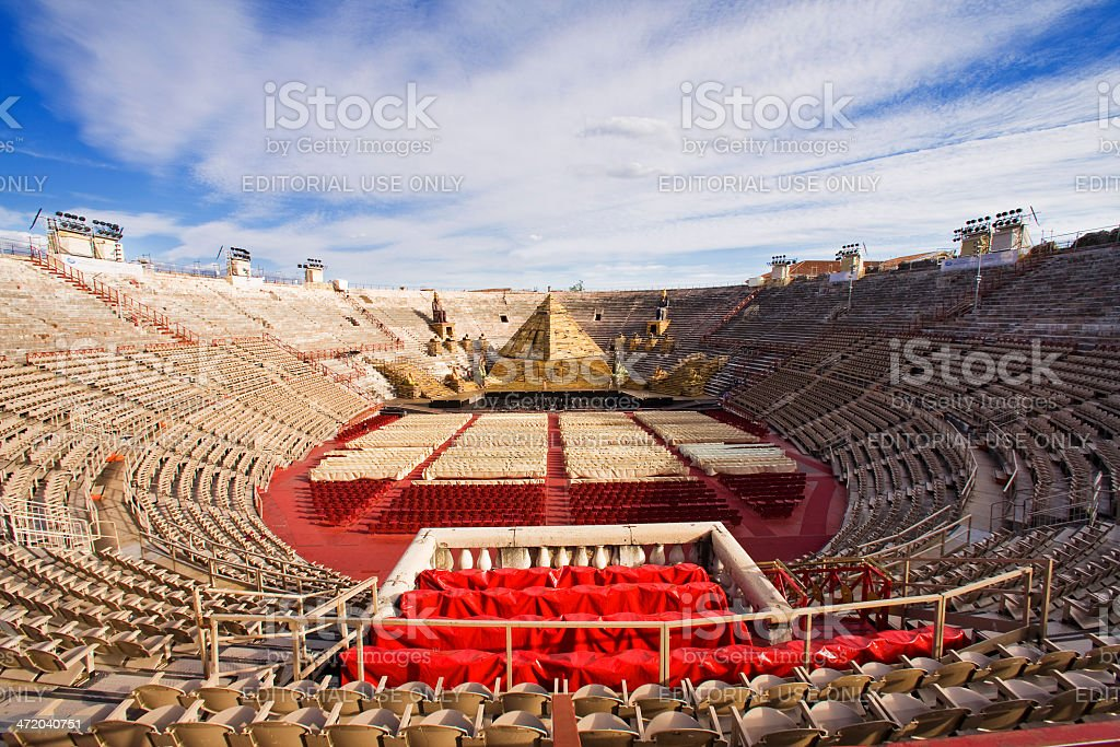 Amphitheater Arena of Verona stock photo