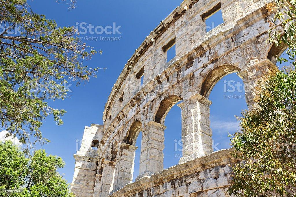 Amphitheater Arena Pula,Croatia stock photo