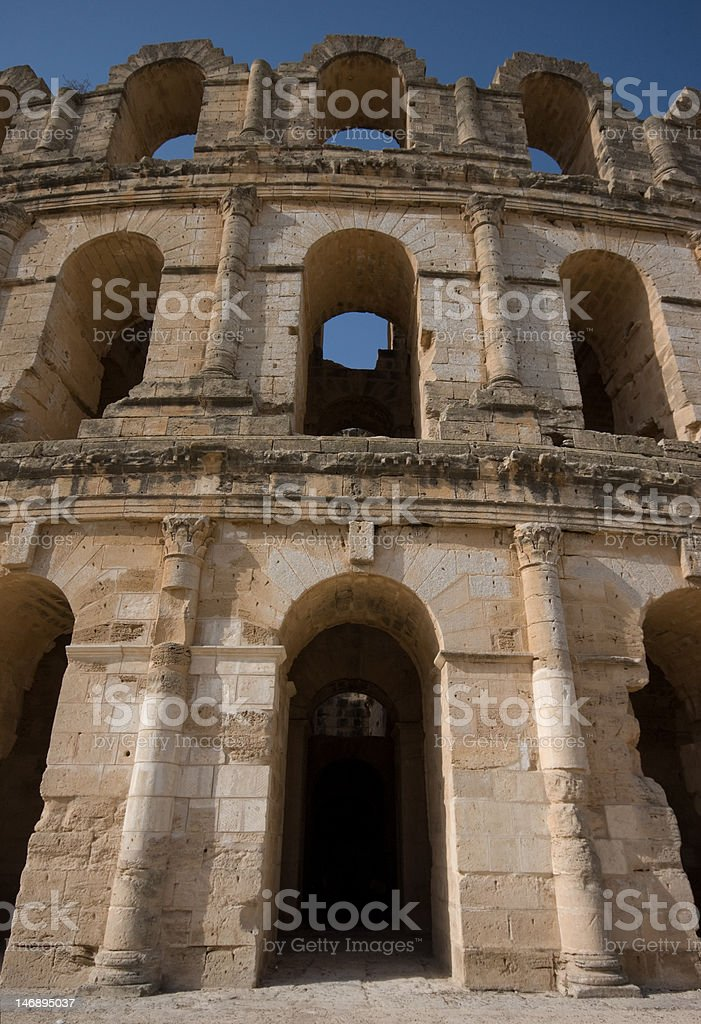Amphitheater El Djem royalty-free stock photo