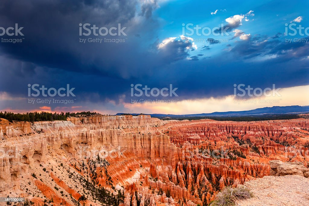 Amphitheater Hoodoos Inspiration Point Bryce Canyon National Park Utah stock photo