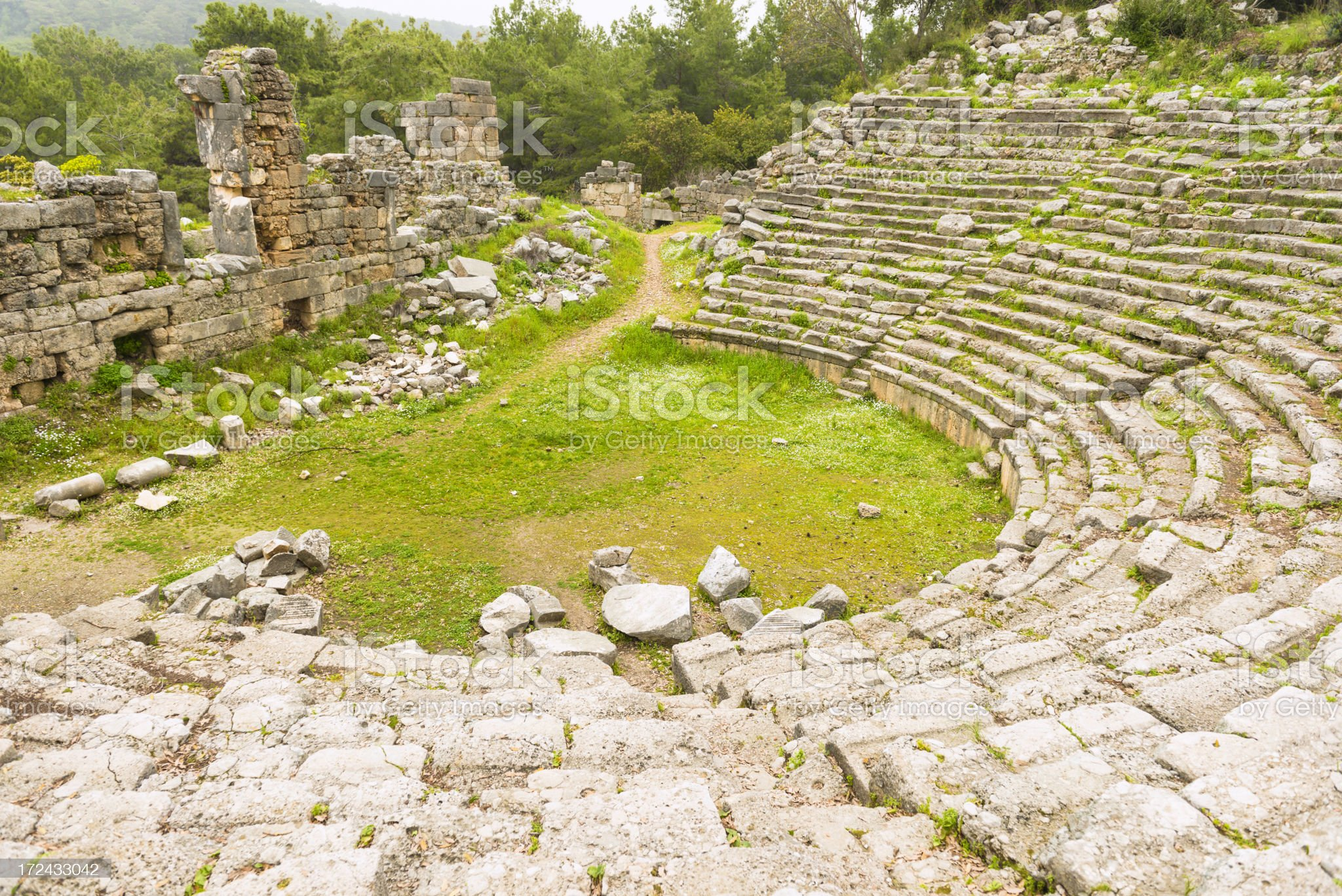amphitheater in Fasalis royalty-free stock photo
