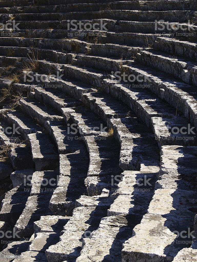 amphitheater in letoon royalty-free stock photo