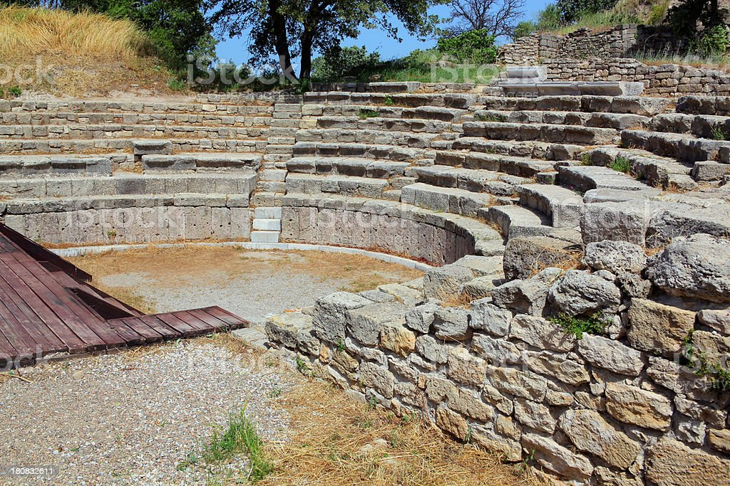 Amphitheater Of Ancient Troy royalty-free stock photo