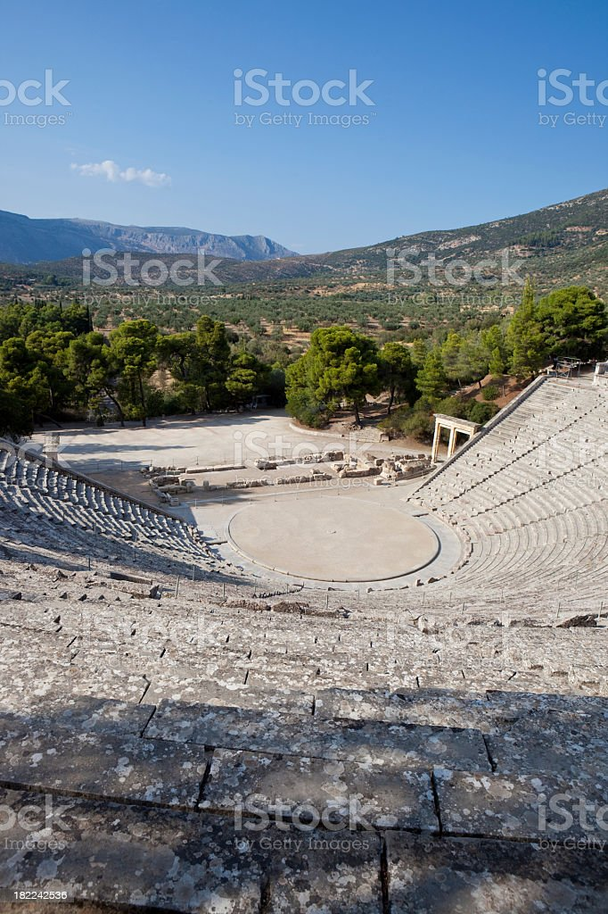 Amphitheater of Epidaurus XXXL royalty-free stock photo