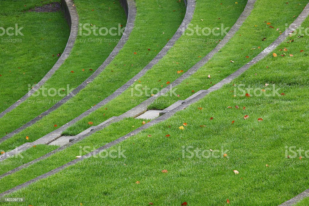 Amphitheater of grass. royalty-free stock photo