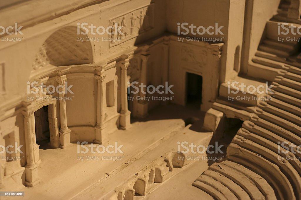 Amphitheater of Herculaneum royalty-free stock photo