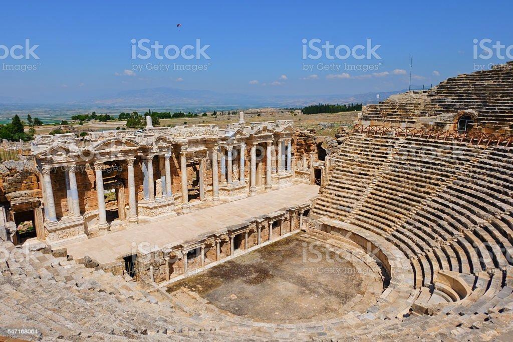 Amphitheater of Hierapolis, Turkey stock photo