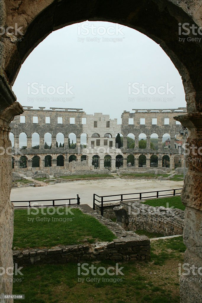 Amphitheater, Pula, Croatia 5 stock photo
